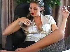 Business Woman, Beauty, Fetish, HD, Nylon, Smoking