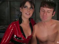 Femdom with Pegging Featuring Penny Flame in Sexy Outfit