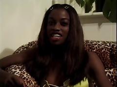 Monique works two black pricks