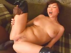 Boots, Anal, Asian, Boots, Creampie, Interracial