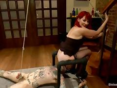 Redhead Maitresse Madeline Having Fun Face Sitting Submissive Guy tube porn video
