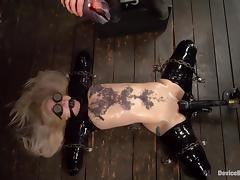 Blindfolded, BDSM, Blindfolded, Blonde, Latex, MILF