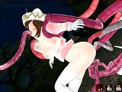 Sexy anime slave pussy fucked by monster tentacles tube porn video