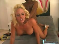 First Time, Big Cock, Big Tits, Blonde, Blowjob, Couple