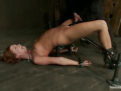 BDSM Action for Lovely Chick Charlie Ann Toyed for Orgasm