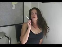 Brunette, Amateur, Brunette, Masturbation, MILF, Smoking