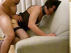 Lara Tranny sucks, licks ass and gets fucked bareback