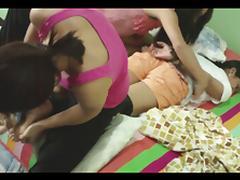 Tickling Asian team tube porn video