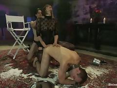 Bondage, BDSM, Bondage, Femdom, Strapon, Threesome