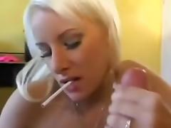 Hot golden-haired enjoys big rod tube porn video