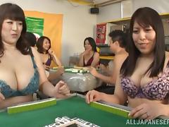 Chubby Japanese mom gets her meaty cunt pounded from behind