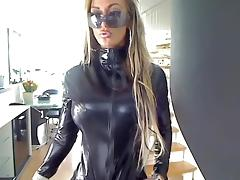 Movie Scene request in skintight catsuit tube porn video