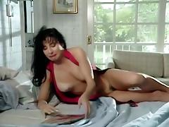 Nasty brunettes on a couch tube porn video