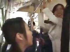 Bus, Asian, Blowjob, Bus, Group, Hairy