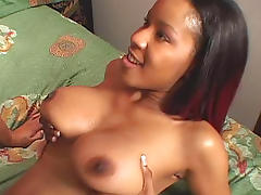 Sweet ebony is fucking with nice black dick