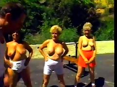 Outdoor Workout Turns Into An Orgy Party with old ladies