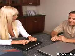 Puma Swede lets a guy eat her snatch before he fucks it