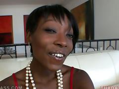 Horny ebony gets facialized after sucking it