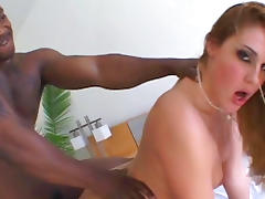 Interracial banging in anal hole for whitey