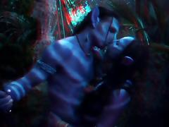 Avatar 3D pornstars fucking in the woods