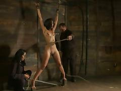 Skin Diamond Gets Nipple Torture and Ropes On Her Snatch in BDSM Video