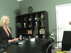 Passionate Brooke gets fucked rough in an office