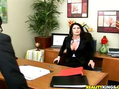 Gorgeous Eva Karera gets fucked rough in an office tube porn video