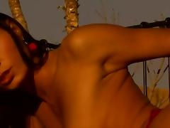 Black Angelika and Lucy Belle Fucked by Two Cocks on the Rooftop porn tube video