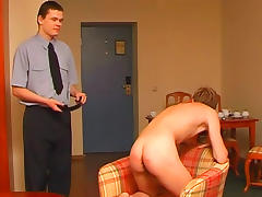 Gorgeous gay spanking in the bedroom