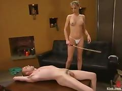 Wild Spanking and Pegging in Femdom Video by Audrey Leigh