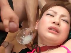 Asian cutie gets rubbed in group tube porn video