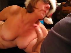Neighbor's wife gives me Xmas blowjob. tube porn video