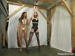 Kym Wilde doesn't lose a chance to torture busty brunette Lily