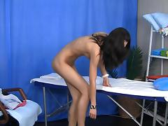 Hawt massage with sexy unbelievable brunette hair