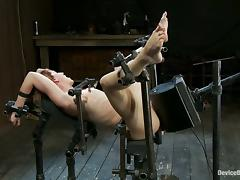 Short-Haired Redhead Dylan Ryder Dominated and Fucked by Machine tube porn video