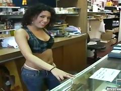 Sensual Latina Amateur in White Thong Getting Her Shaved Snatch Banged
