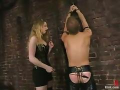 Guy Tortured with Clothespins Gets Ass Fucked by Princess Kali's Strapon