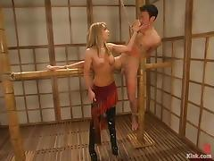 Busty Hot MILF Dominates a Guy in Crazy Bondage Video