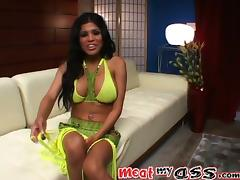 Alexis Amore pokes her snatch with a toy, while fucking anal