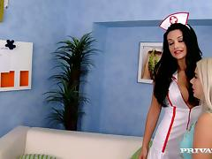 Nesty gets fucked by a doctor and his sexy nurse Aletta Ocean tube porn video