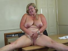 mature goes wild with herself