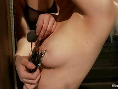 Horny Cherry Torn gets wired and toyed by Bobbi Starr tube porn video