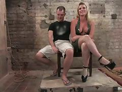 Bondage and Face Sitting in BDSM Femdom Vid by Blonde Babe