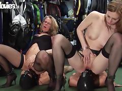 blondes exploit their sex slaves