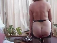 Granny w Pierced Pussy Strips and Toys tube porn video