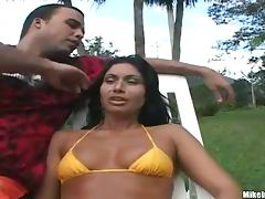 Brazilian milf is enjoying some male attention in her cunt