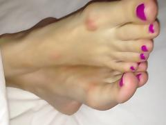 Cuming over my Wife's sexy feet 3
