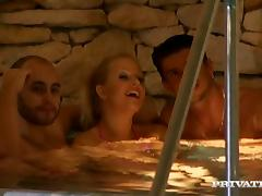 Double Penetration Threesome for Blonde Slut Sandra Mark
