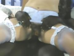 Interracial, Interracial, Stockings, Vintage, Antique, Historic Porn
