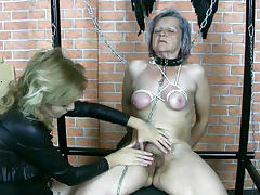 Granny was humiliated in hardcore domination vid tube porn video